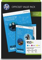 cartouche d'encre HP 953xl multipack couleur